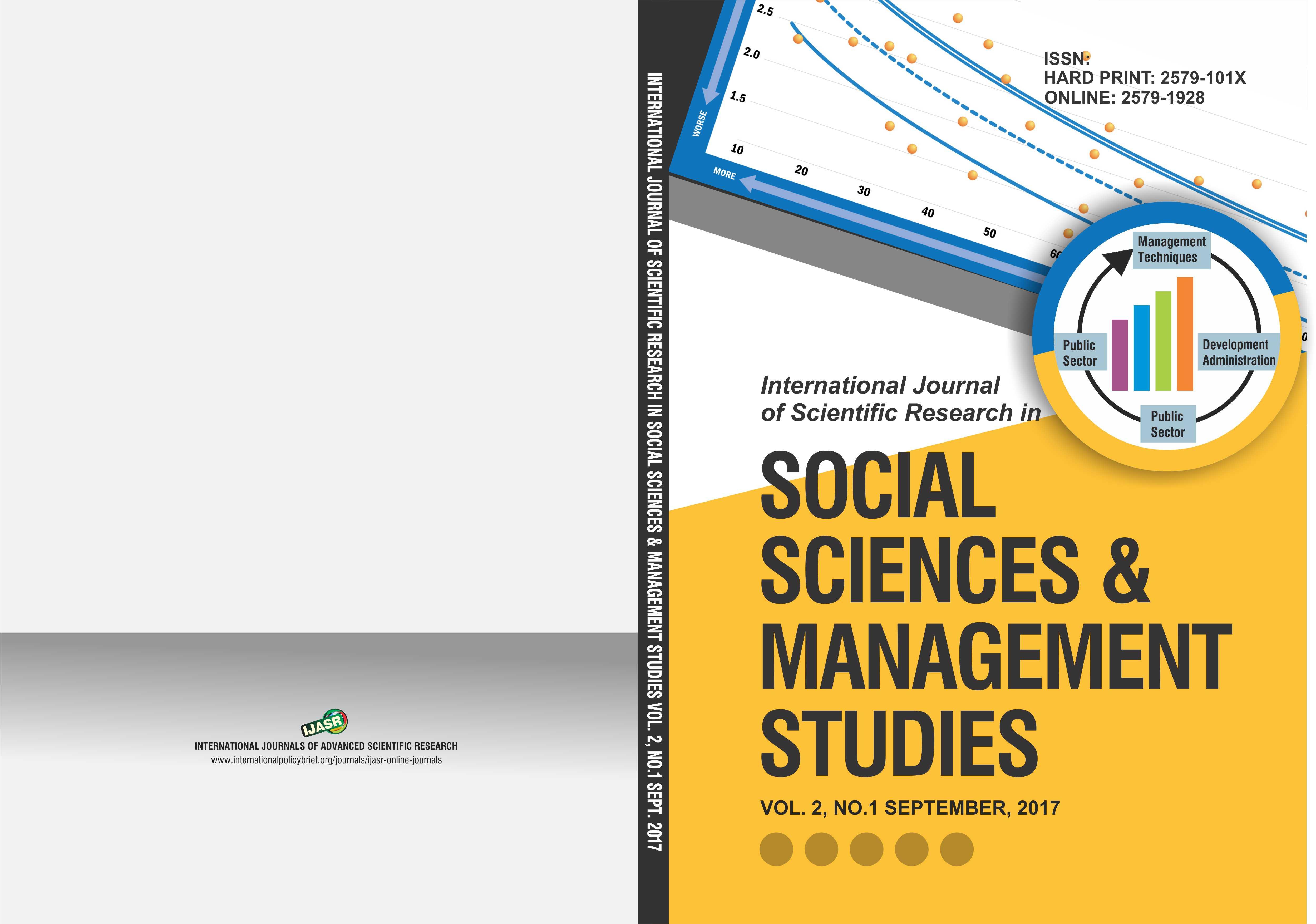 Intl Jrnl of Sci Research in Social Sciences & Mgt Studies Vol2  No1