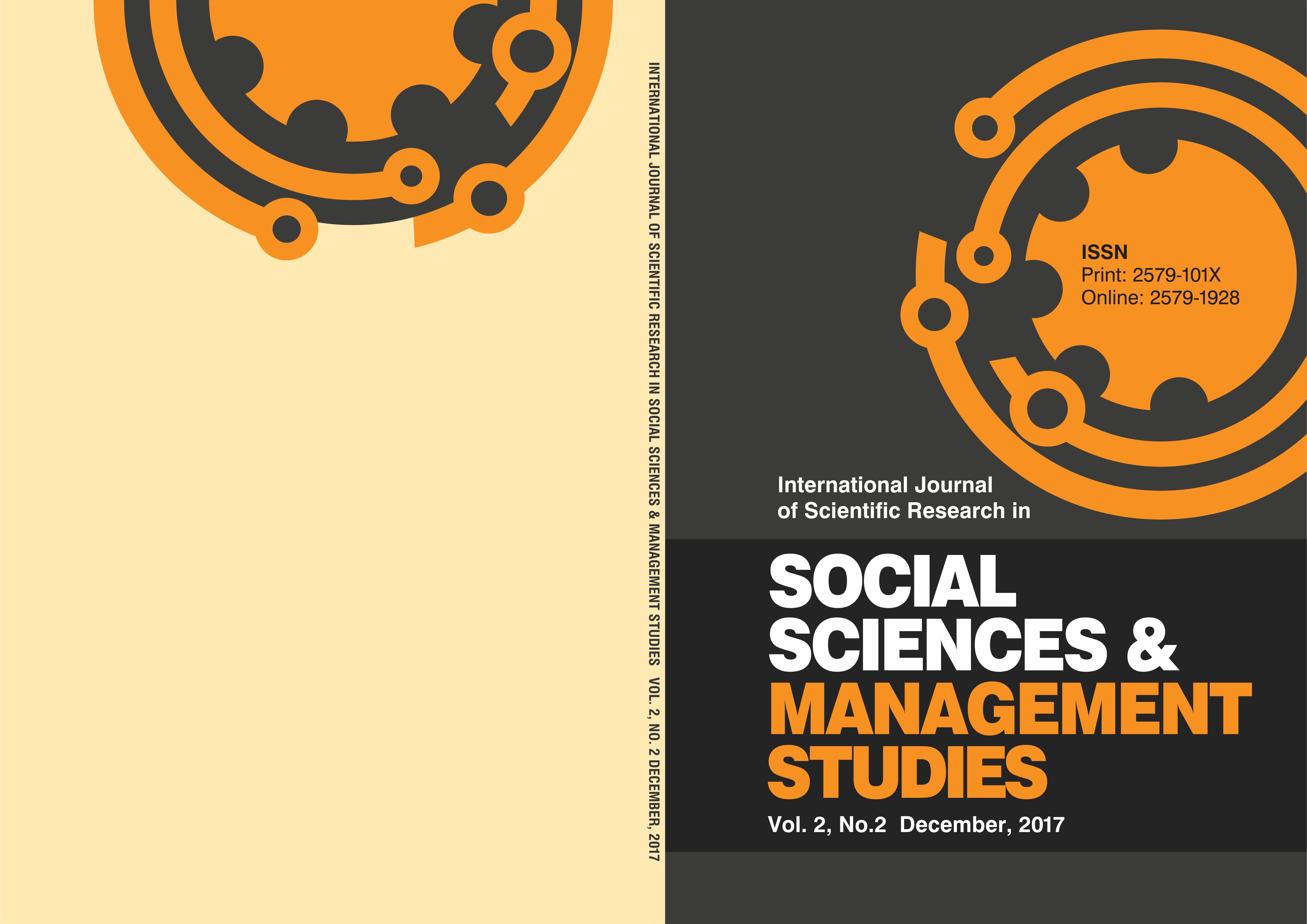 Intl Jrnl of Sci Research in Social Sciences & Mgt Studies Vol2  No2